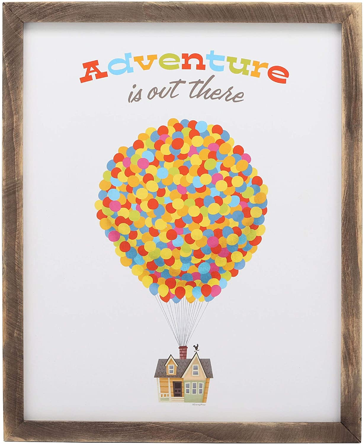 Open Road Brands Adventure is Out There Up Framed Wood Wall Décor