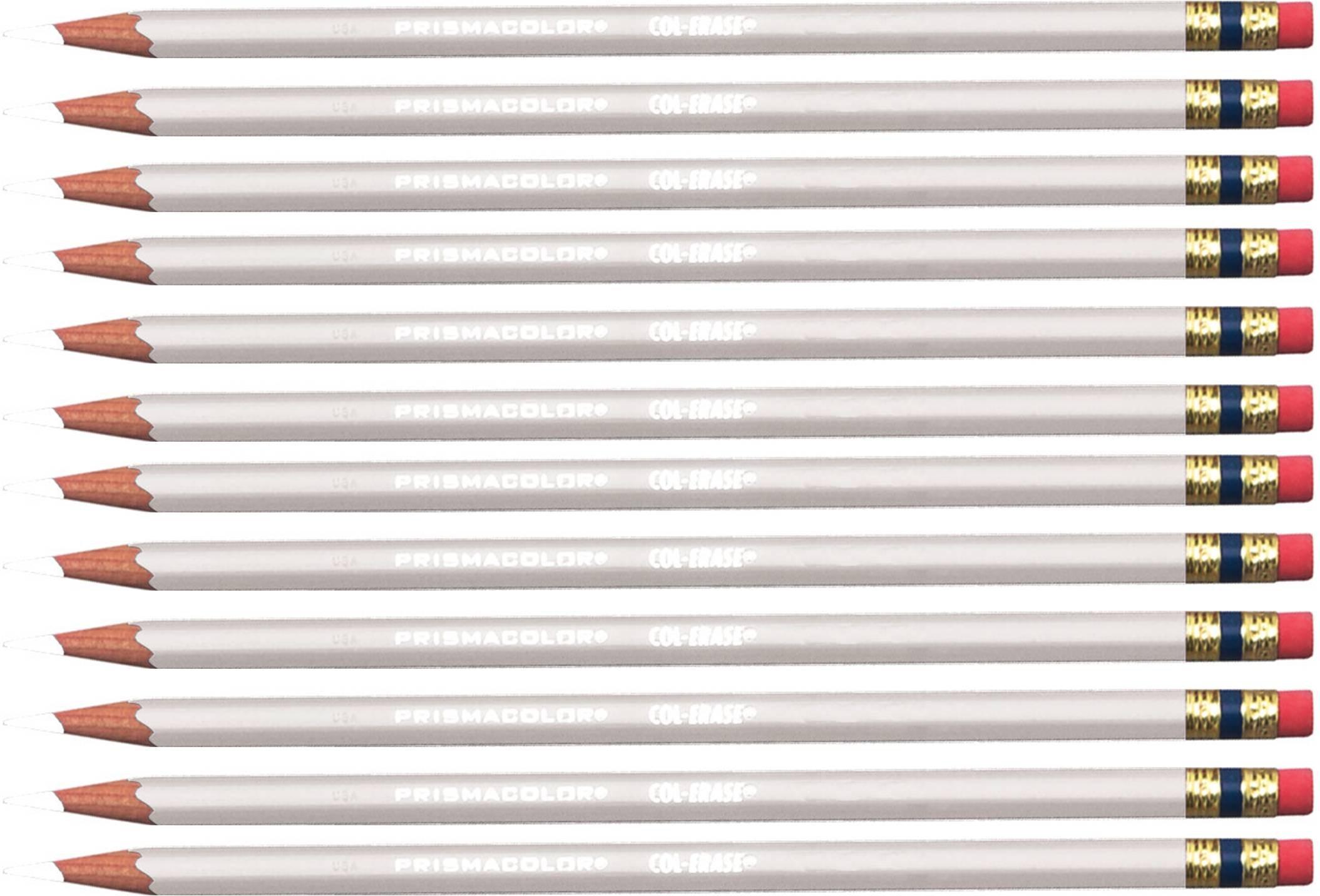Prismacolor Col-erase Color Pencils,  White, Box of 12 Pencils by Prismacolor