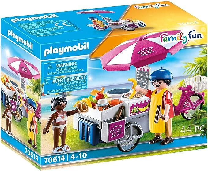 PLAYMOBIL Family Fun 70614 - Tienda de Crepes portátil a ...