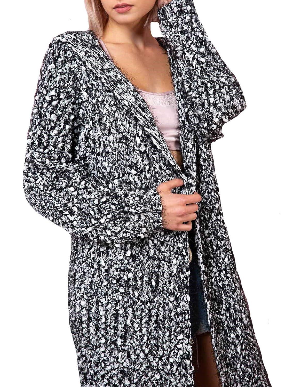 Amazon.com: POL Clothing Fuzzy Alpaca Cardigan - Sudadera ...
