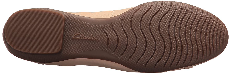 CLARKS Damens's Neenah Vine Ballet Flat, Nude New schwarz/Nude Patent US Lthr Combi, 8.5 Narrow US Patent 1061ac