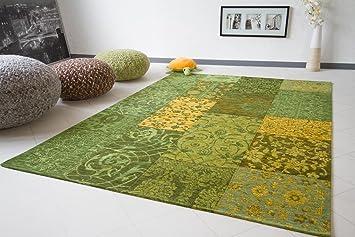 Teppich grün  Vintage Teppich Exquisit - Patchwork Teppich - grün, Größe ...