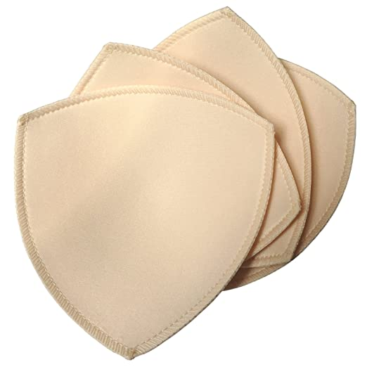 cb64a5df31e6f Image Unavailable. Image not available for. Color  DayKit 2 Pairs  Removeable Triangle Bra Pads Inserts for Bikinis Tops Sports ...