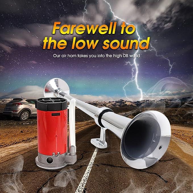 Audew Lufthorn Drucklufthorn Luftdruck-Fanfare auto Horn mit ...