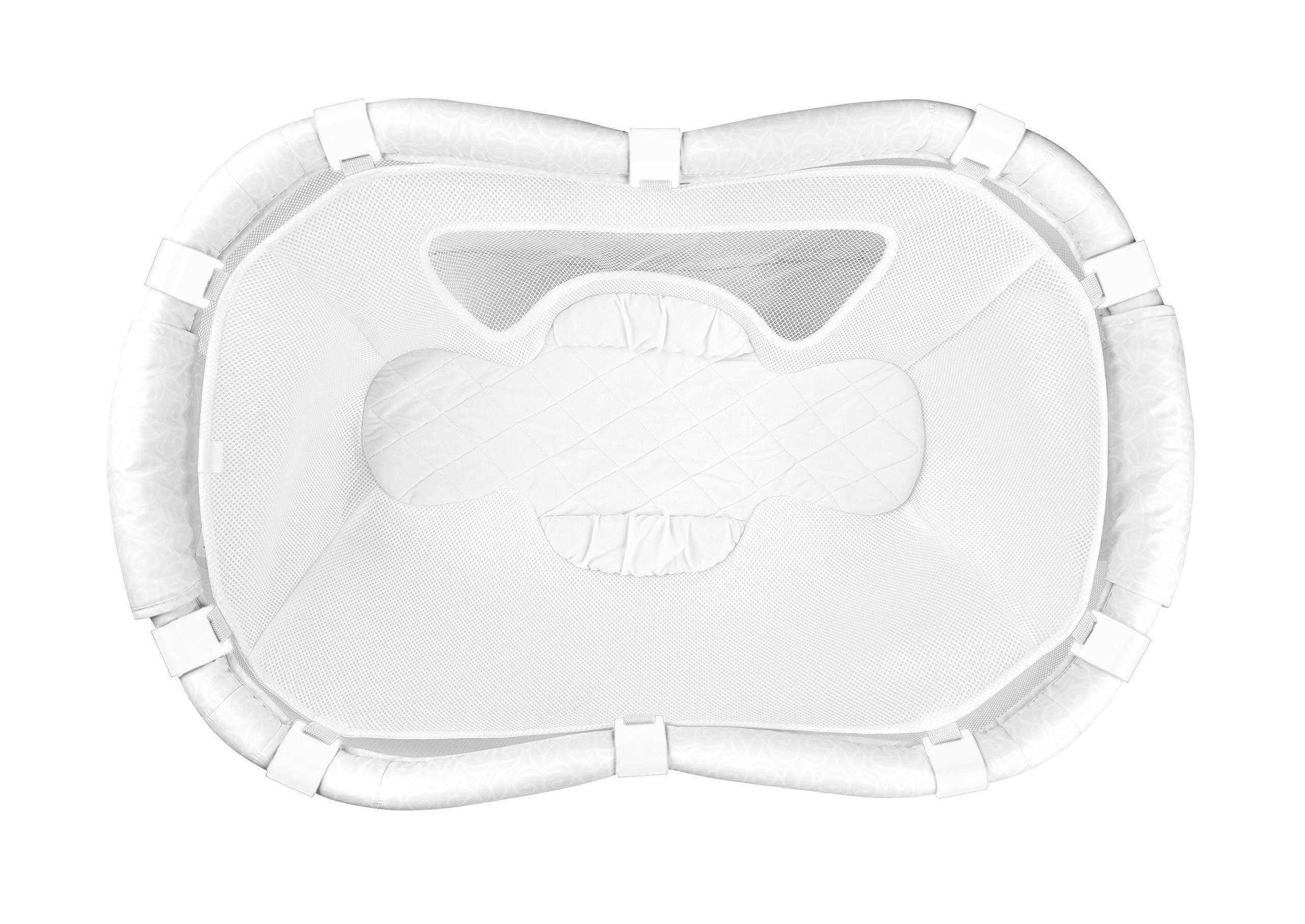 MySnuggly Newborn Bassinet Insert for Halo Bassinets   Real Cuddling Feeling & Better Sleep   Anatomical Hypoallergenic Baby Insert w/Breathable Mesh   Patent Pending