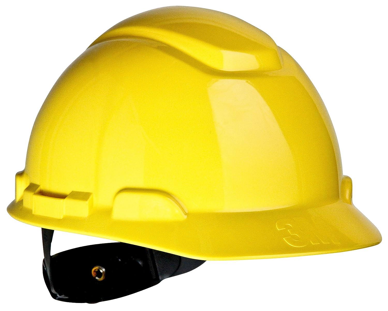 3M Hard Hat H-702R, Yellow 4-Point Ratchet Suspension