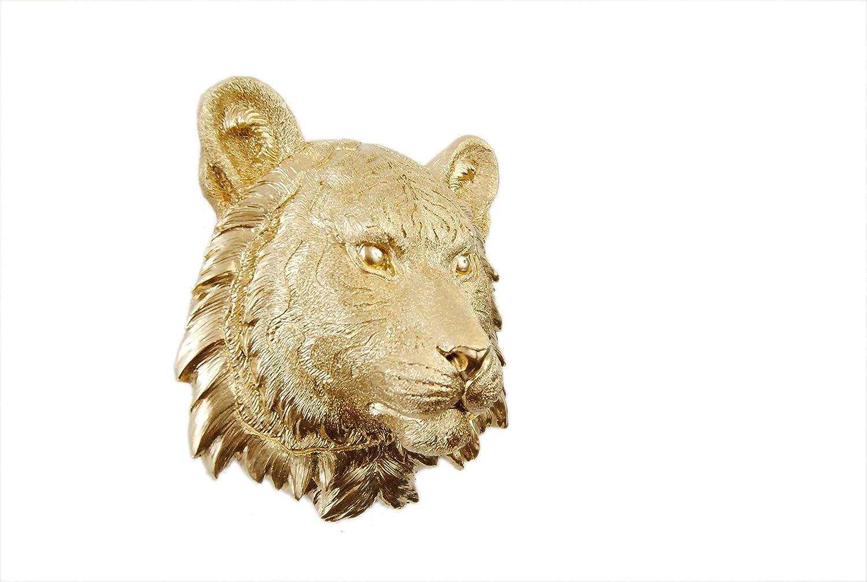 Amazon.com: Near and Deer Faux Taxidermy Tiger Head Wall Mount, Mini ...