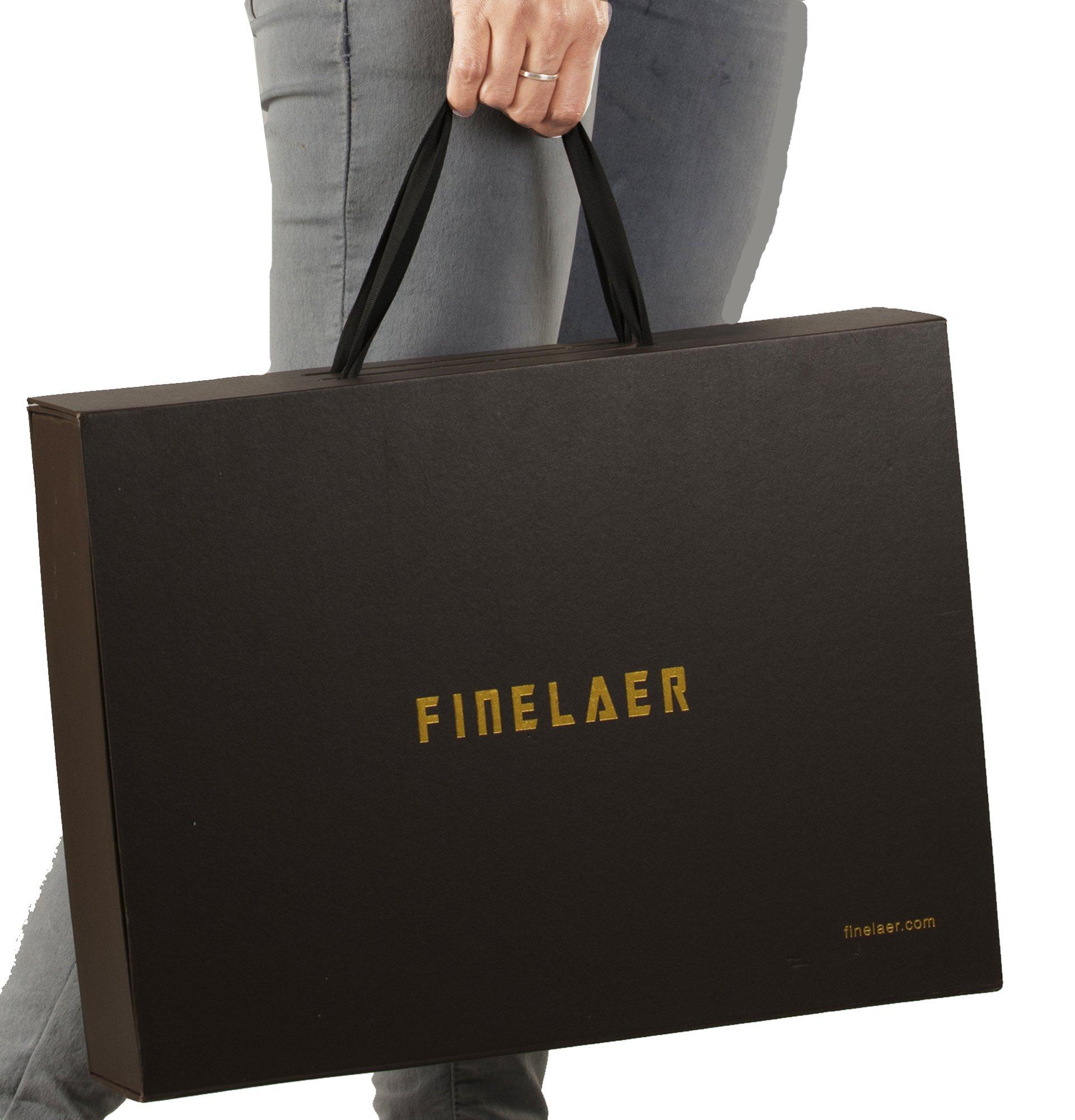Finelaer Vintage Brown Laptop Backpack Daypack Rucksack Travel Hiking Bag Men Women by FINELAER (Image #8)