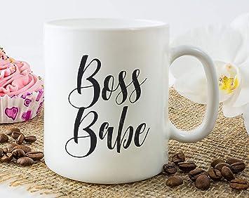 Amazoncom Boss Babe Mug Gift For Female Boss Boss Lady Mug