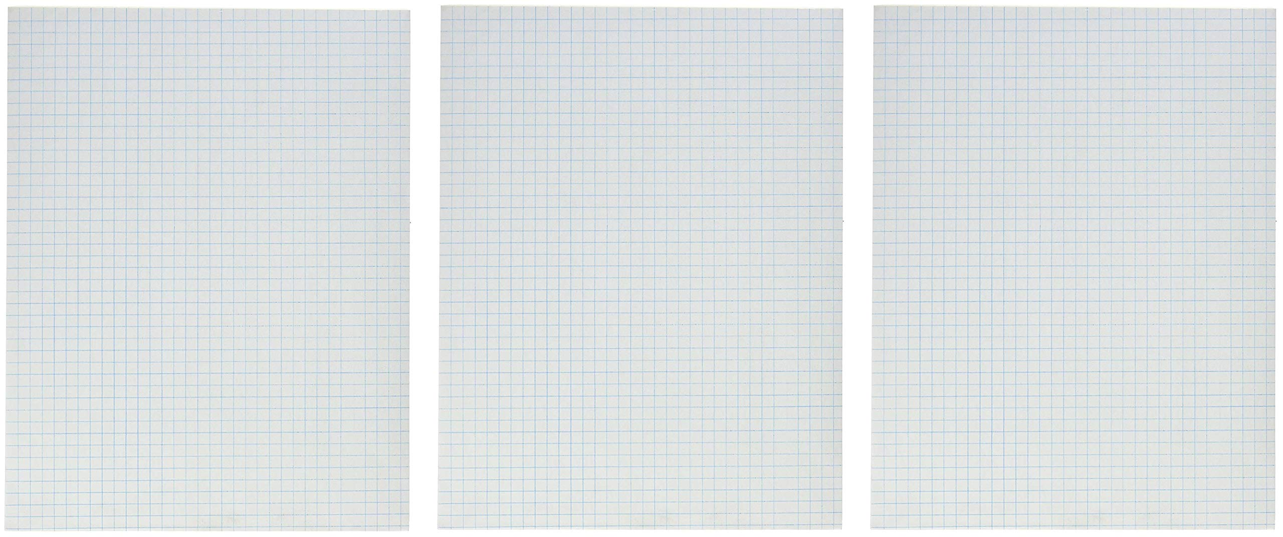School Smart Graph Paper Pad with Chipboard Back, 8-1/2 x 11 Inches, 1/4 Inch Rule, White (3 X Pack of 12)