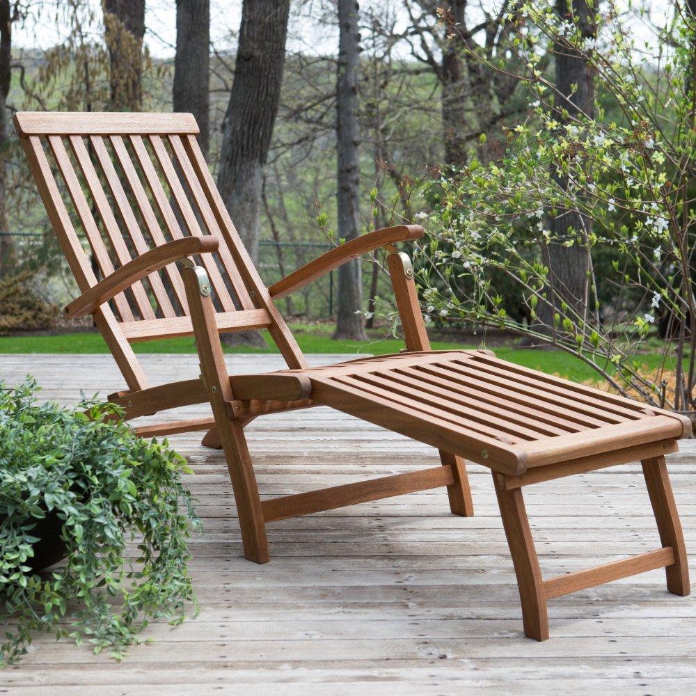 Coral Coast Dorado Acacia Steamer Deck Lounge Chair by Coral Coast