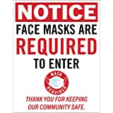 with Double Sided Tape No Mask No Entry Sign White Unique Design Ensures Safety from CoronaVirus Made of PVC COVID-19 Precaution