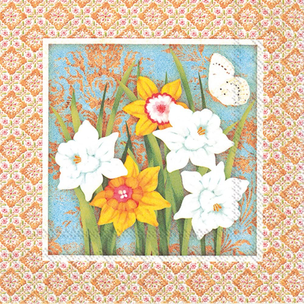 Celebrate the Home Spring 3-Ply Paper Cocktail Napkins Flowers of Spring 20 Count