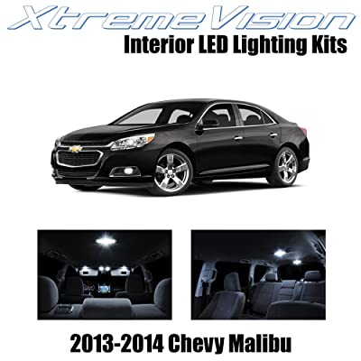 XtremeVision Interior LED for Chevy Malibu 2013-2014 (5 Pieces) Pure White Interior LED Kit + Installation Tool Tool: Automotive