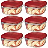 Rubbermaid Easy Find Lid Square 5-Cup Food Storage Container (Pack of 6)
