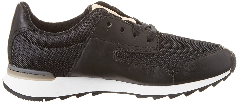 Clarks Floura Mix, Zapatillas para Mujer, Negro (Black Leather), 41.5 EU