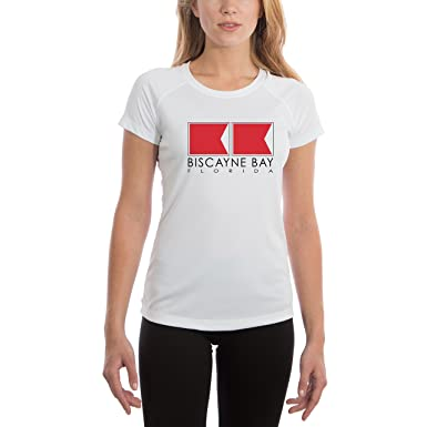 e9cb3af84cb Altered Latitudes Biscayne Bay Nautical Flags Women s UPF 50+ UV Sun  Protection Short Sleeve