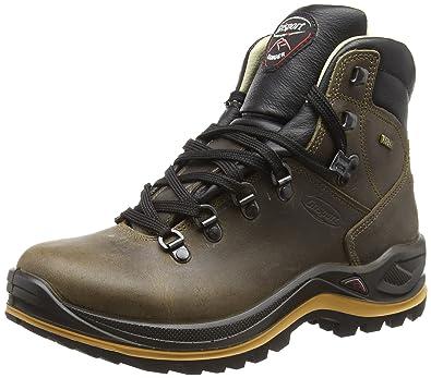 Grisport Unisex Schuhe Herren und Damen aus der Ranger Linie, Trekking- und Wanderstiefel aus hochwertigem Leder, Membrankonstruktion und Vibramsohle, Braun, 37 EU