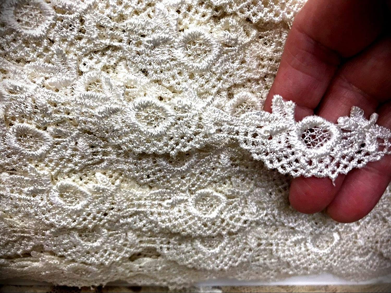 Lace Trim Cotton Ribbon Vintage for DIY Art Crafts Dress Embellishment Gift Wrap