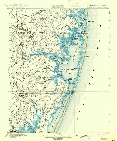 Amazon.com : YellowMaps Ocean City MD topo map, 1:62500 Scale, 15 X ...