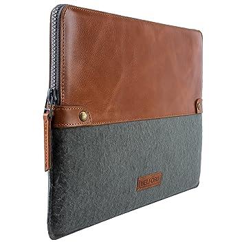 Amazon.com: Genuine piel MacBook Funda 13