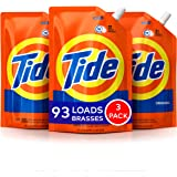 Tide Smart Pouch Scent HE Turbo Clean Liquid Laundry Detergent, Pack of 3, 48 oz