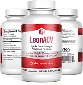 Lean Apple Cider Vinegar - Healthy Weight Management & Metabolic Support Formula - 90 Capsule Bottle