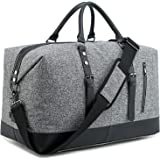 BLUBOON Weekender Overnight Bag Lightweight Travel Duffle Bag for Men Womens Carry On Tote Bags (grey)