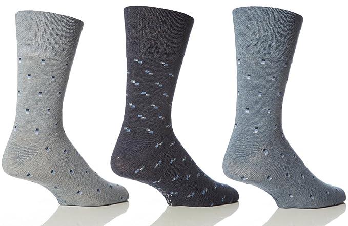 Sock Shop - Calcetines sueltos para hombre, diseño de logos azules, 6 unidades