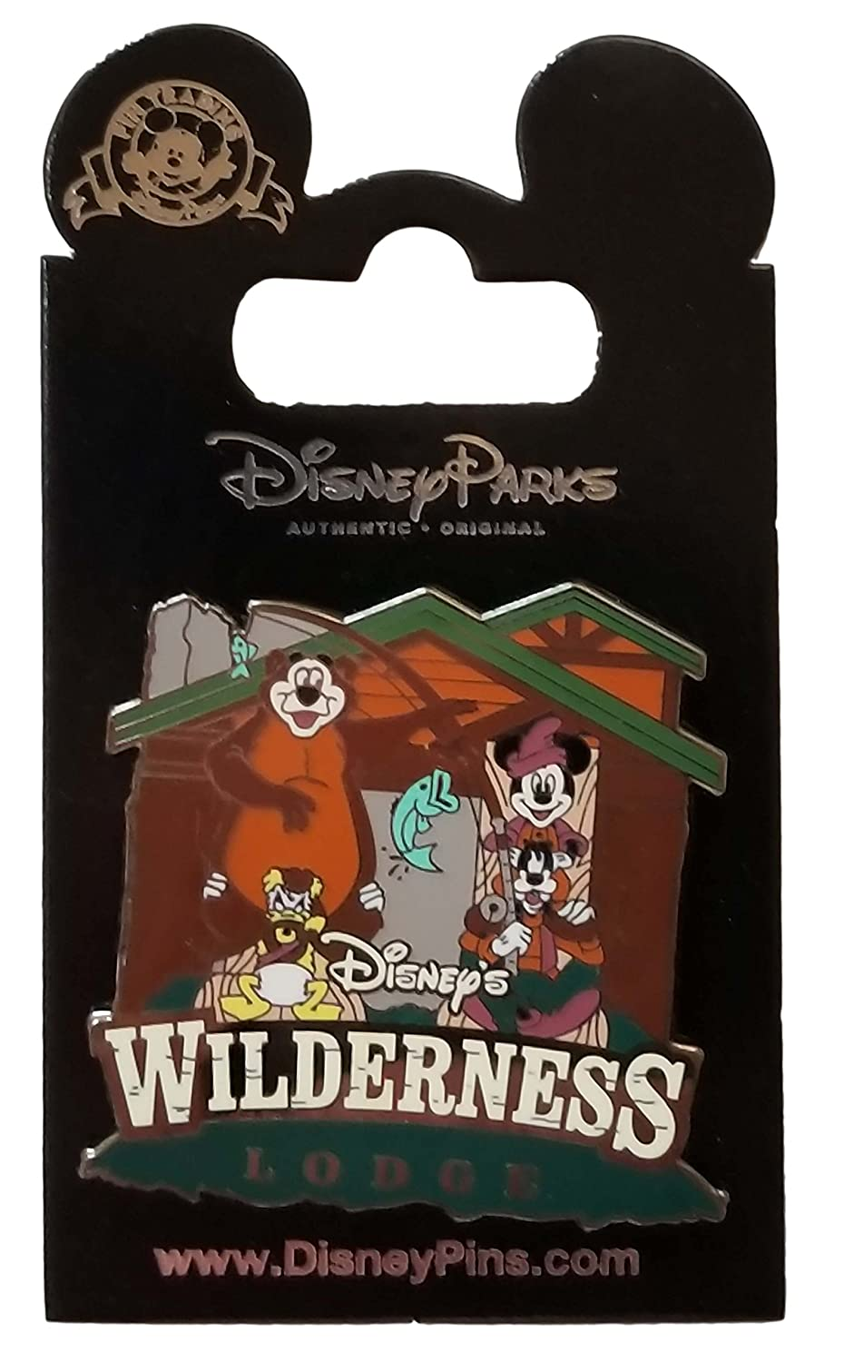 Disney Pin - Wilderness Lodge Mickey and Gang