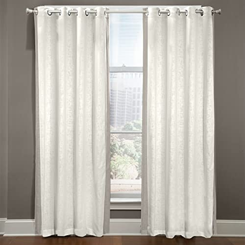 Veratex The Central Park Collection Made in The U.S.A. 100 Linen Living Room Grommet Window Panel Curtain, Gray, 108