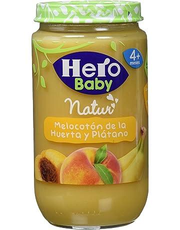 Hero Baby Babynatur Alimento Infantil, Melocotón De La Huerta Y Plátano, Sin gluten,