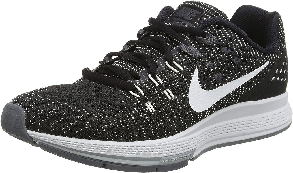 89f4e0ebb69cd Nike Women s Air Zoom Structure 19 Running Shoe Black White Dark Grey Cl