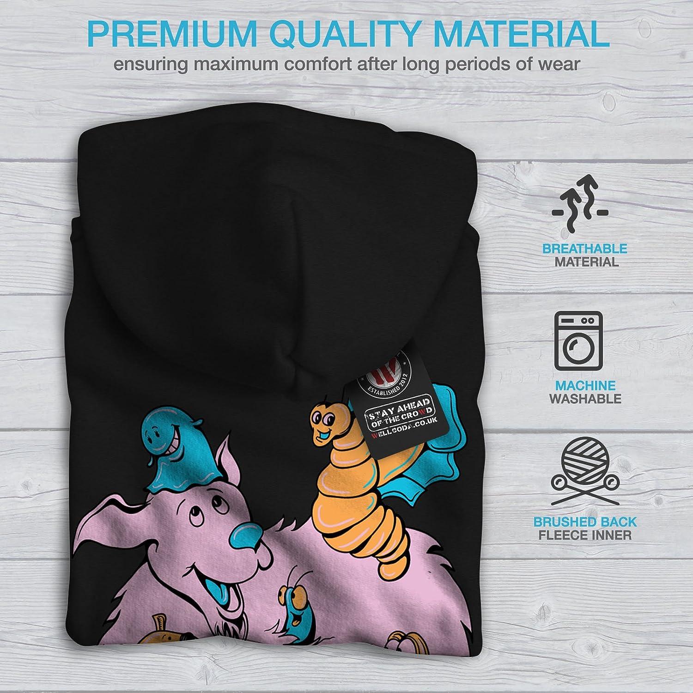 Nature Printed on The Jumpers Back wellcoda Animated Animal Mens Hoodie