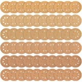 5in Sanding Discs, iTrunk 5 Inch 8 Holes Gold Dustless Hook and Loop Sanding Discs, 10 Each of 60 80 120 180 240 320 Grits (60 PCS)