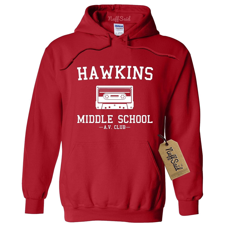 Hawkins Middle School AV Club Hoodie/Hooded Sweatshirt Sweater - Unisex Fit