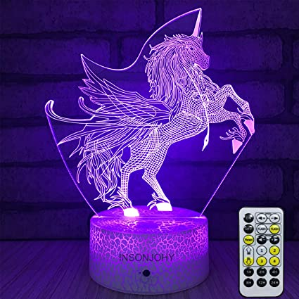 Amazoncom Insonjohy Kids Night Lights Bedside Lamp 7 Colors Change