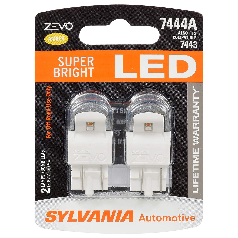 Sylvania Automotive Bulb Guide >> Sylvania 7444 T20 Zevo Led Amber Bulb Bright Led Bulb Ideal For Park And Turn Lights Contains 2 Bulbs