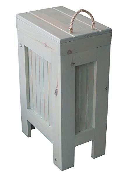 Rustic Wood Trash Bin, Kitchen Trash Can, Wood Trash Can Cabinet, Dog Food  Storage, 13 Gallon, Recycle Bin, Driftwood Stain - Rope Handle - Handmade  ...