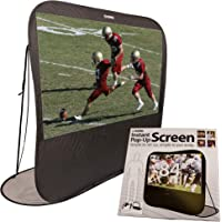 "SIMA 84"" Pop Up Instant Portable Projection Screen, Black; Instant Set Up, Flexible for Space-Saving Storage; Projector Required"