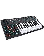 Alesis VI25 - Teclado controlador USB-MIDI avanzado de 25 teclas con 16 pads, 12 potenciómetros asignables, 36 botones y salida MIDI de 5 pin, software incluido