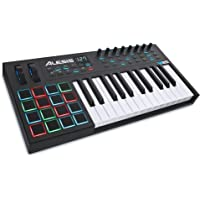 Alesis VI25 | Advanced 25-Key USB MIDI Keyboard & Drum Pad Controller (16 Pads / 8 Knobs / 24 Buttons)