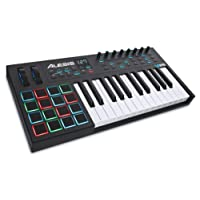 Alesis VI25 Advanced 25-Key USB MIDI Keyboard Controller with 16 Pads, 8 Assignable Knobs, 24 Buttons and 5-Pin MIDI Out Plus Production Software Included