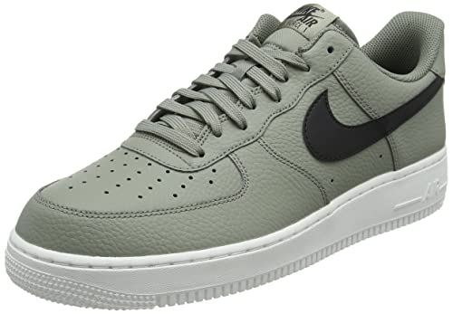 finest selection 4fff5 8df2c Nike Men s Air Force 1 Low Dark Stucco Black Summit White Leather Casual  Shoes