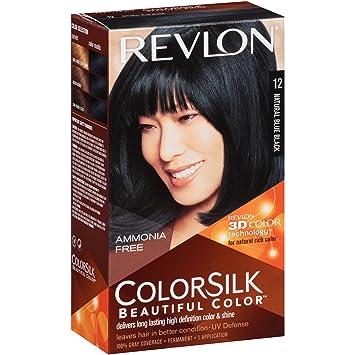Amazon.com : Revlon Colorsilk #12 Natural Blue Black : Chemical Hair ...