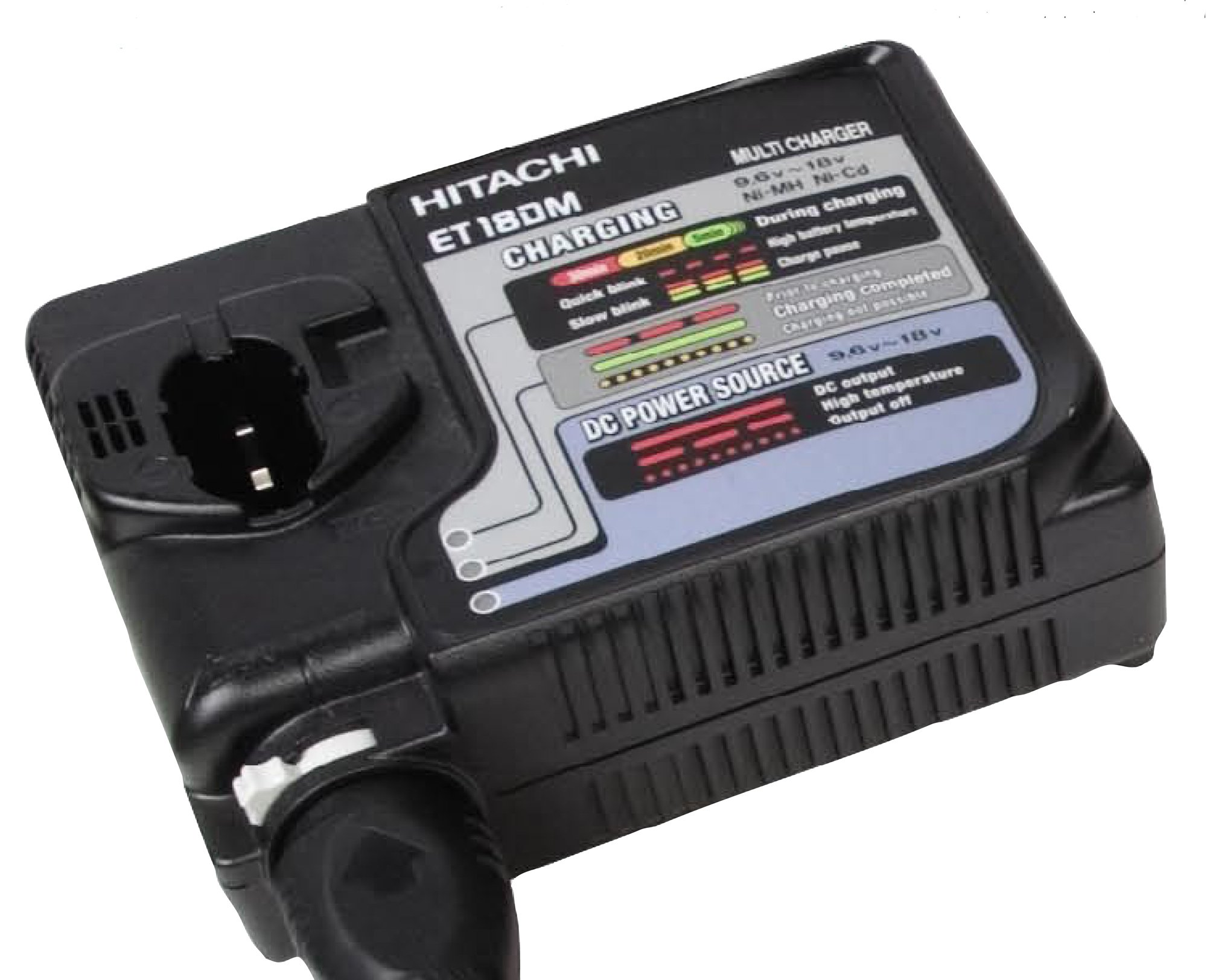 Hitachi ET18DM Universal AC/DC Rapid Charger 7.2 Volt to 18 Volt Ni-Cad and Ni-Metal Batteries  (Discontinued by Manufacturer)