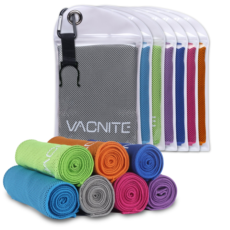 100cm x 30 cm Sport und Outdoor-Aktivit/äten Fitness Tragbare Tasche mit Cliphaken f/ür Sauna VACNITE Mikrofaser k/ühlendes Handtuch