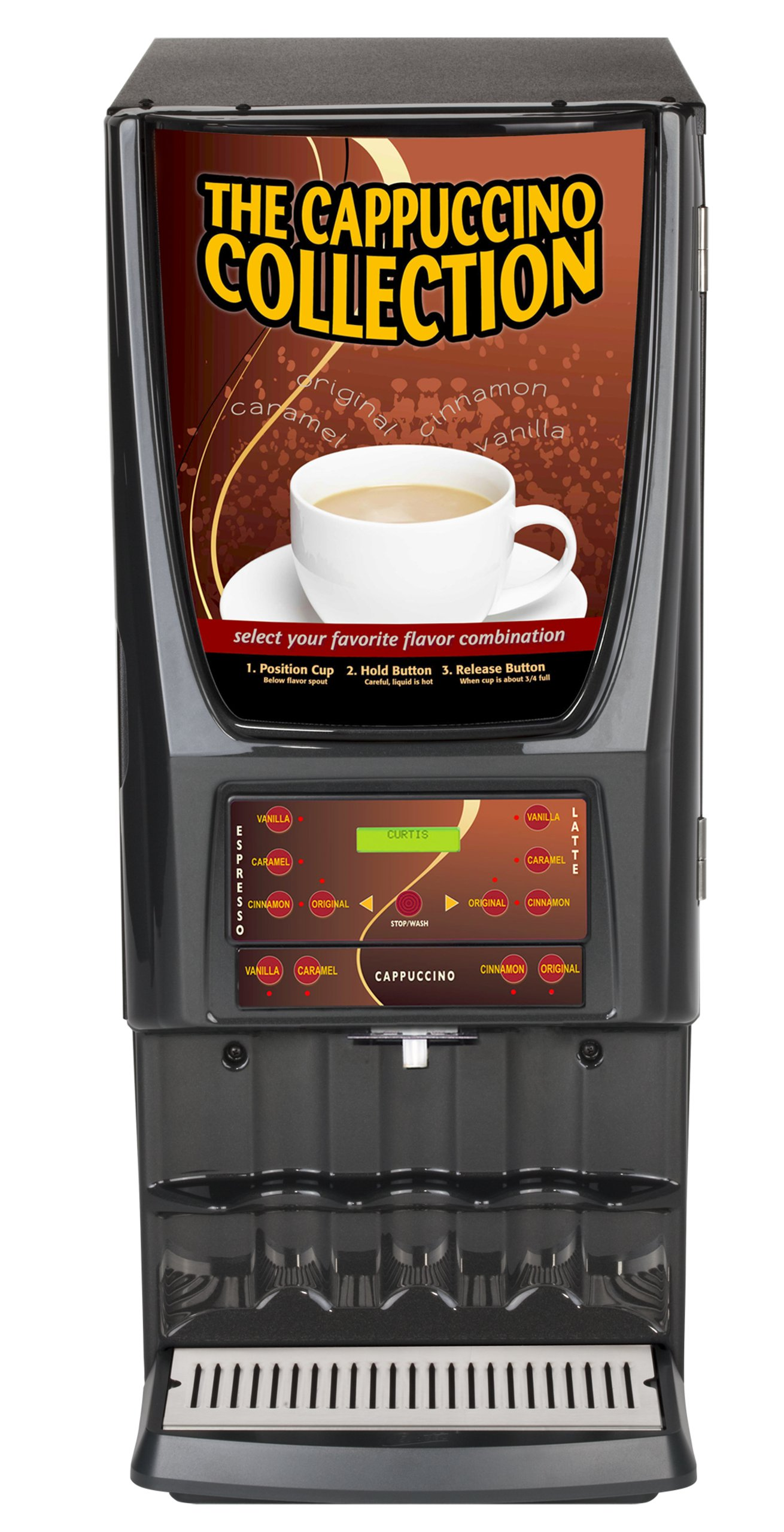 Wilbur Curtis G3 System 1 Station Cappuccino (Four 2 Lb And One 10 Lb Hoppers), Multi-Flavor - Commercial Cappuccino Machine - EXPR10 (Each)