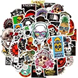 Waterproof Vinyl Laptop Stickers for Skateboard Motor Car Decals (50Pcs Skull Style)