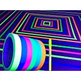 GreyParrot Tape UV Tape Blacklight Reactive, (6 Pack), (6 Colors), 1/2inx33ft Per Roll, Fluorescent Cloth Tape, Glow in…